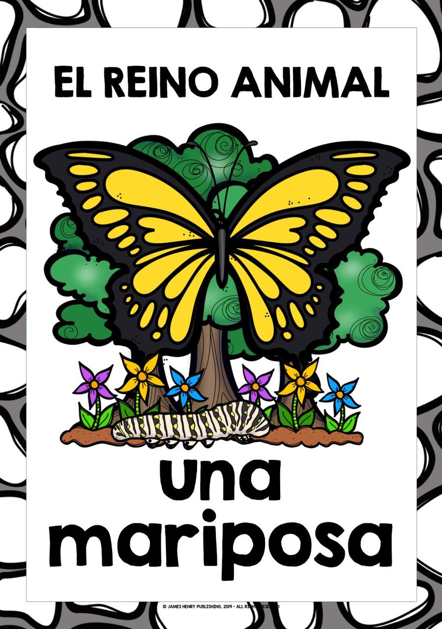 SPANISH ANIMALS FLASHCARDS POSTERS