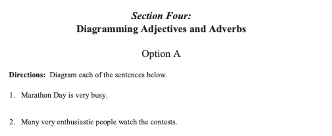 Sentence Diagramming Made Simple: Adjectives and Adverbs