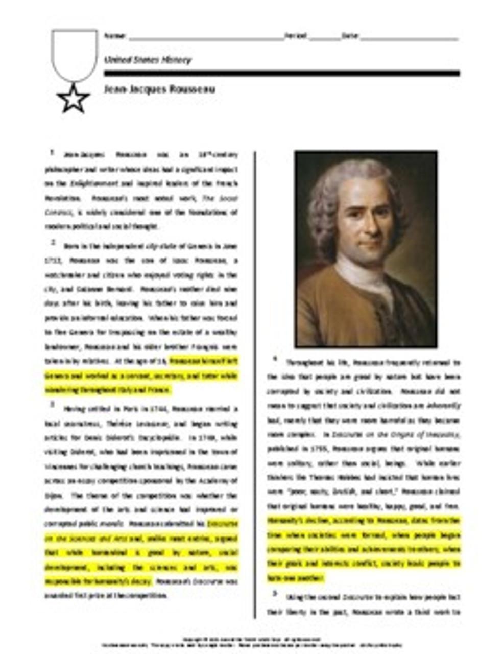 Biography: Jean-Jacques Rousseau