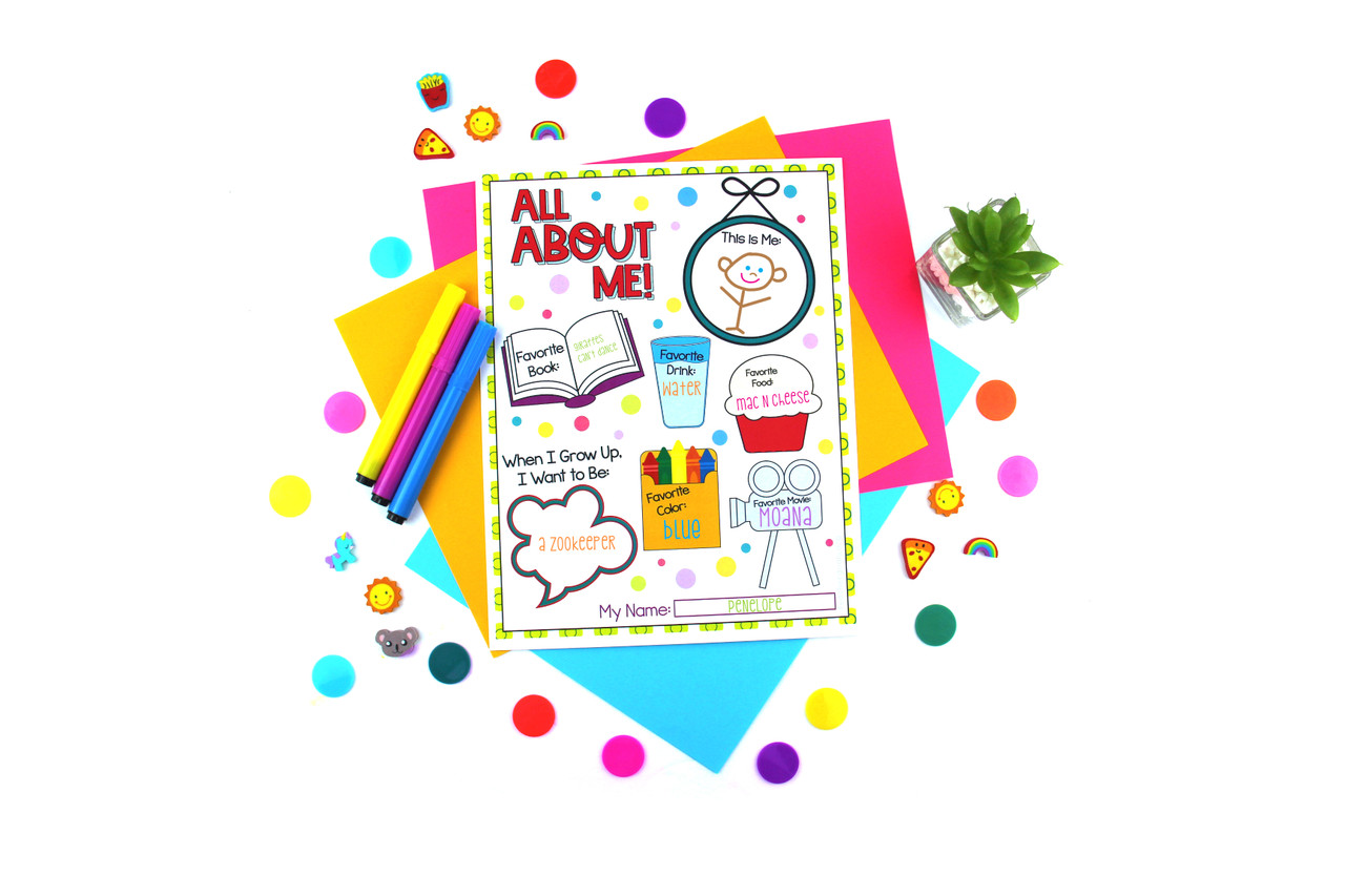 """""""All About Me"""" Printable"""