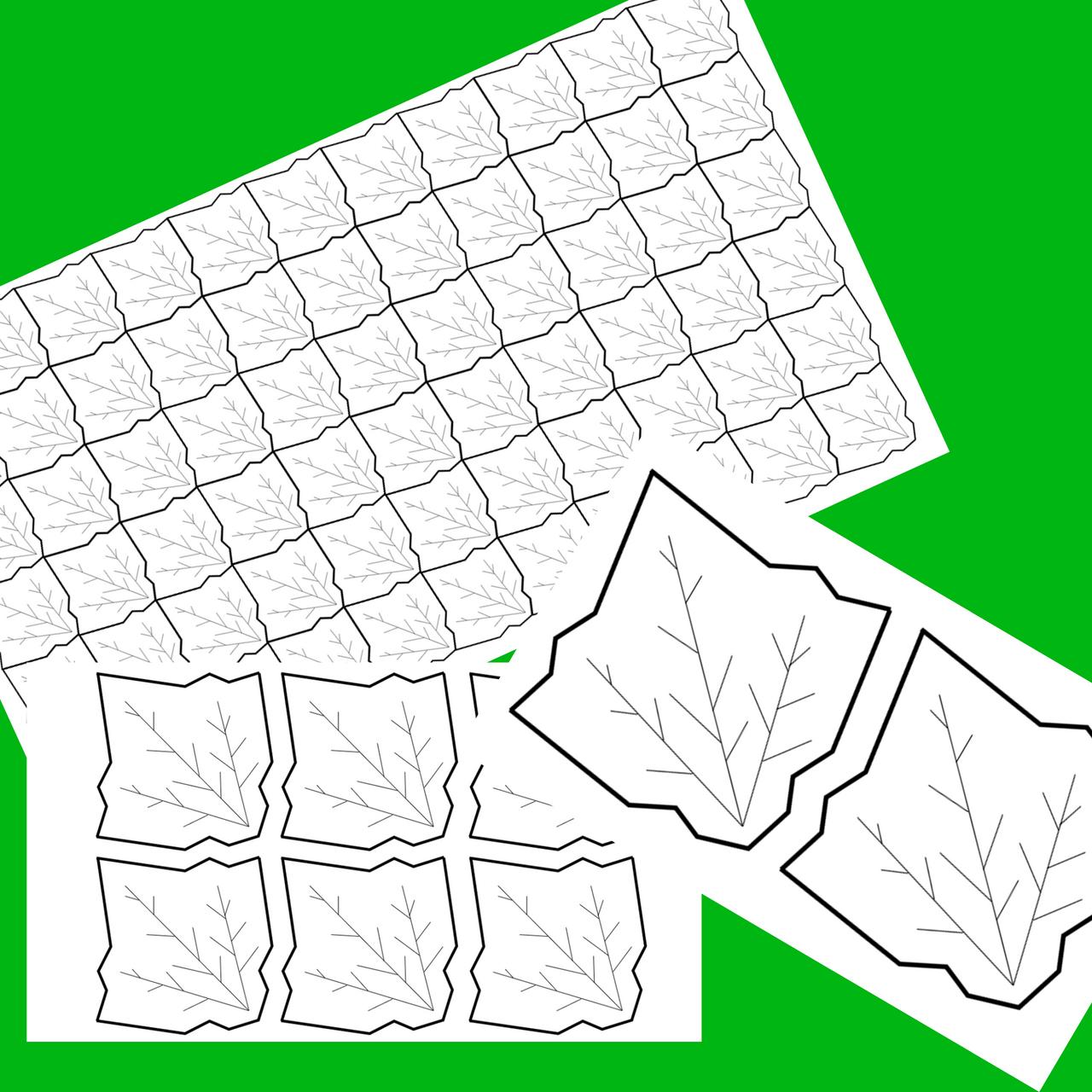 FREE Fall Leaf Tessellation Math & Art Project Collaborative Activity Bulletin Board