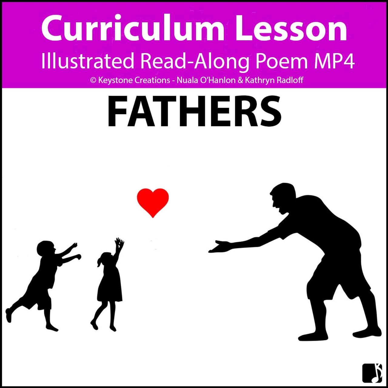 'FATHERS' (Grades Pre-K - 6) ~ Read-Along Poem video
