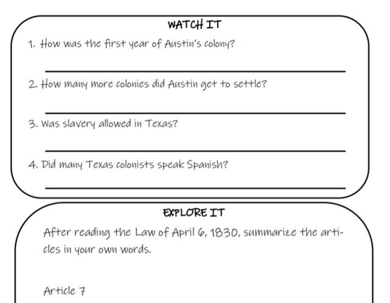 Settlement of Texas Stations