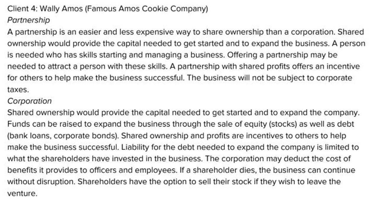 Business Organization Activity