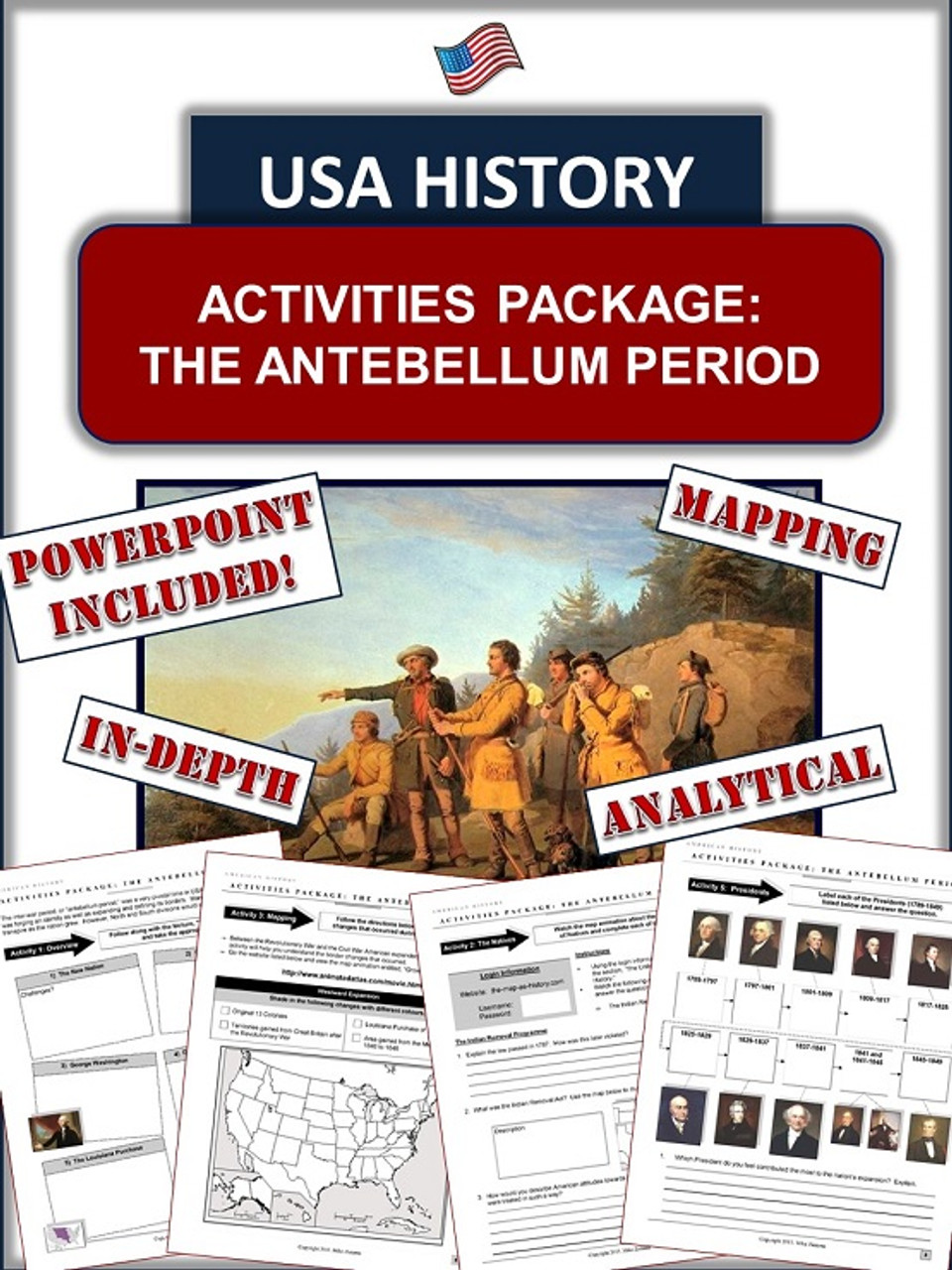 Western Expansion USA History Unit Bundle:  95+ Pages/Slides of Fun Resources!
