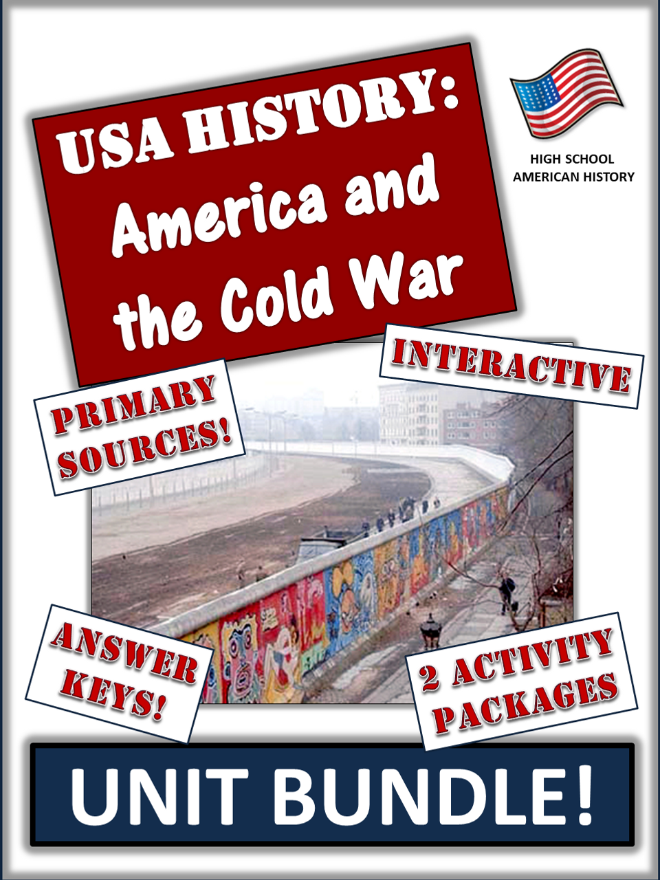 Cold War and America Bundle! 56 Pages/Slides of Engaging, Diverse Activities!