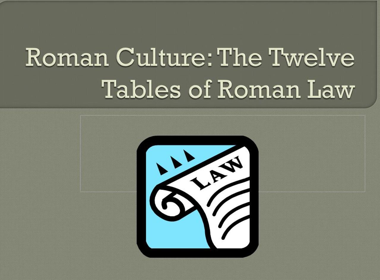 The 12 Tables of Roman Law - Roman Culture Lesson