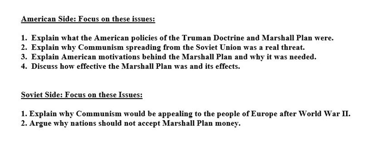 Cold War Debate Activity