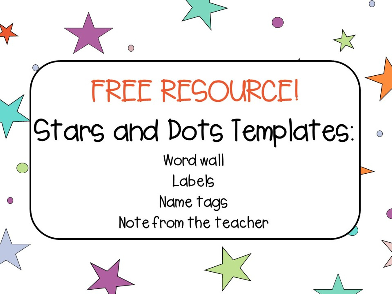 Stars And Dots Classroom Decor Templates Free Amped Up Learning