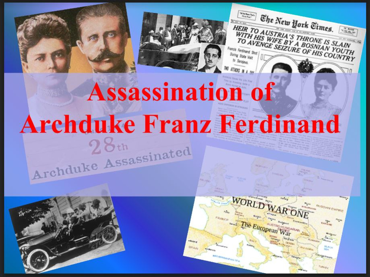 Assassination of the Archduke Franz Ferdinand- World War I Begins