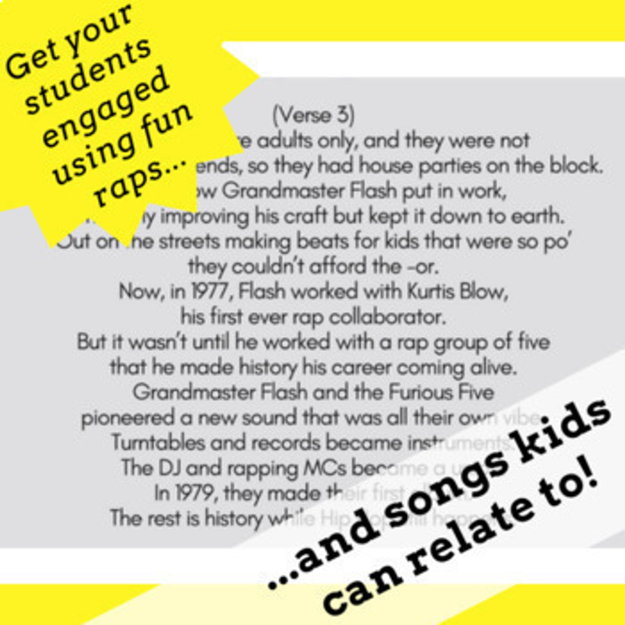 History of Hip Hop Reading Comprehension Activities Using Song Bundle