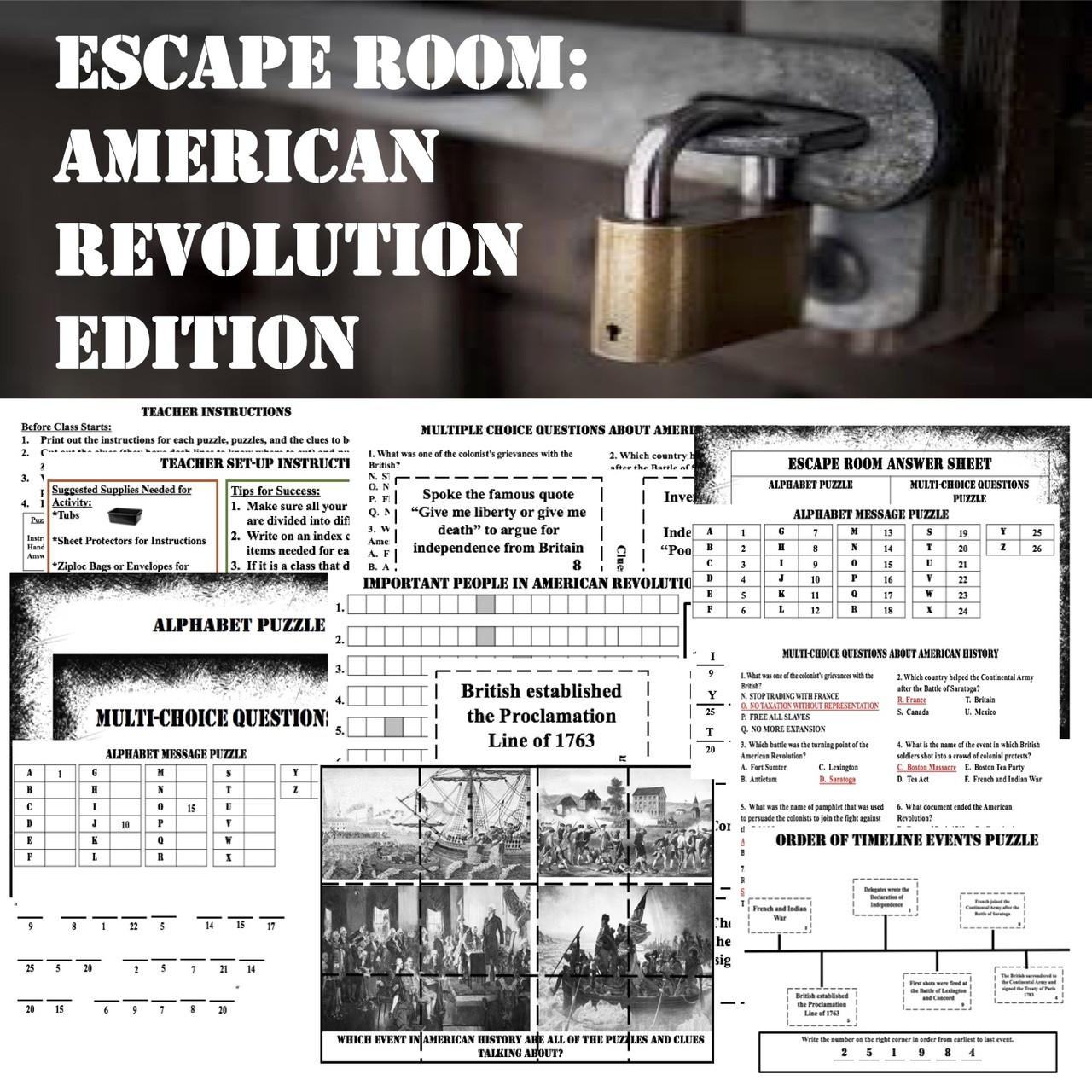 Escape Room-American Revolution
