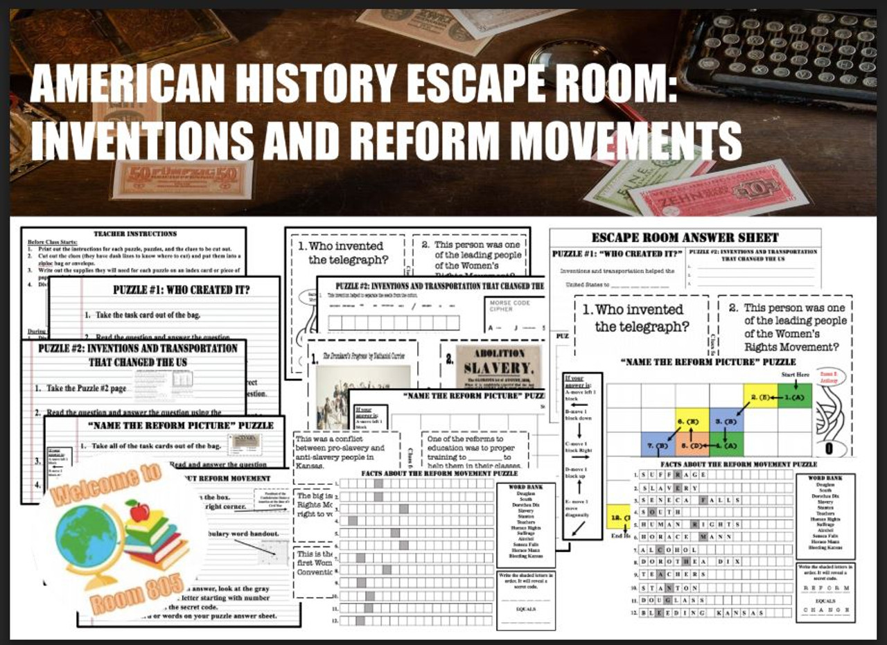 Escape Room-Inventions and Reformers