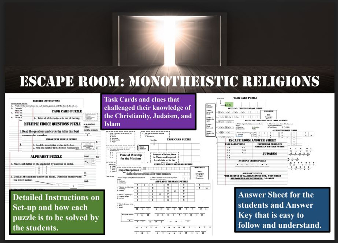 Escape Room: Monotheistic Religions
