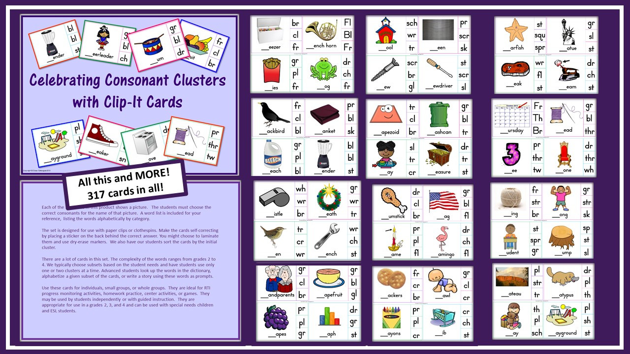 Celebrating Consonant Clusters with Clip-It Cards