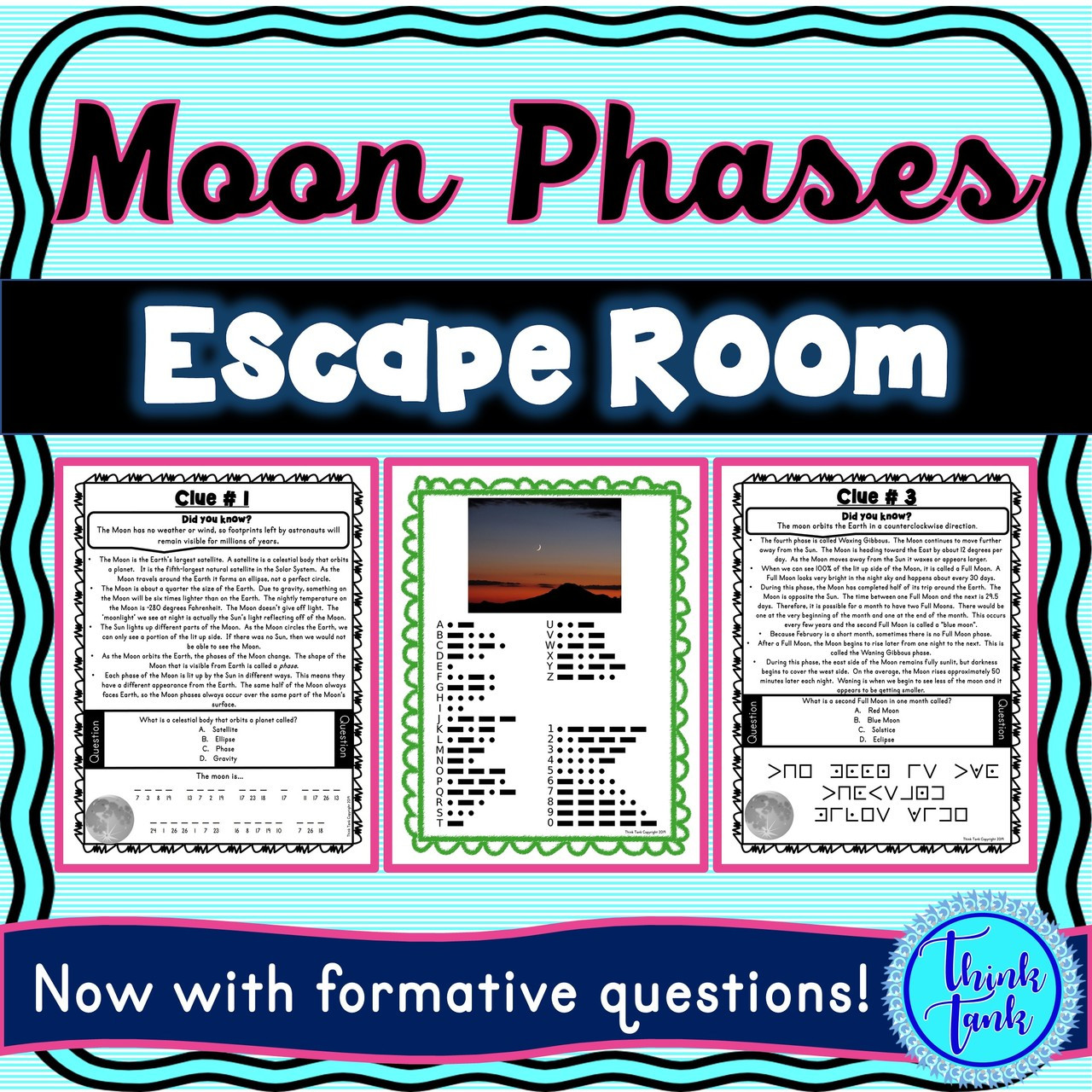Phases of the Moon ESCAPE ROOM!