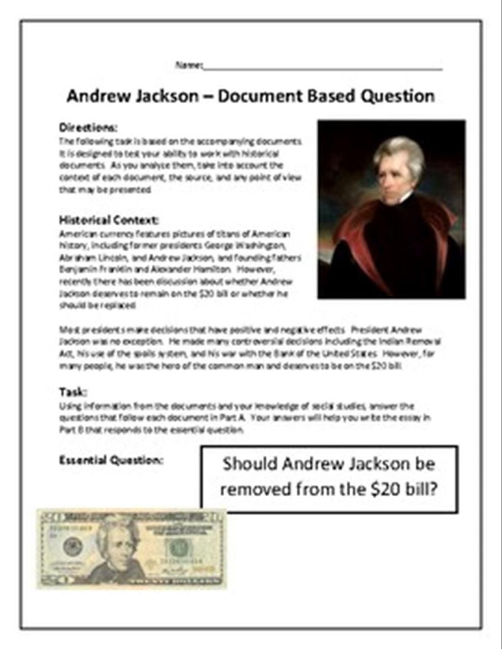 Andrew Jackson DBQ