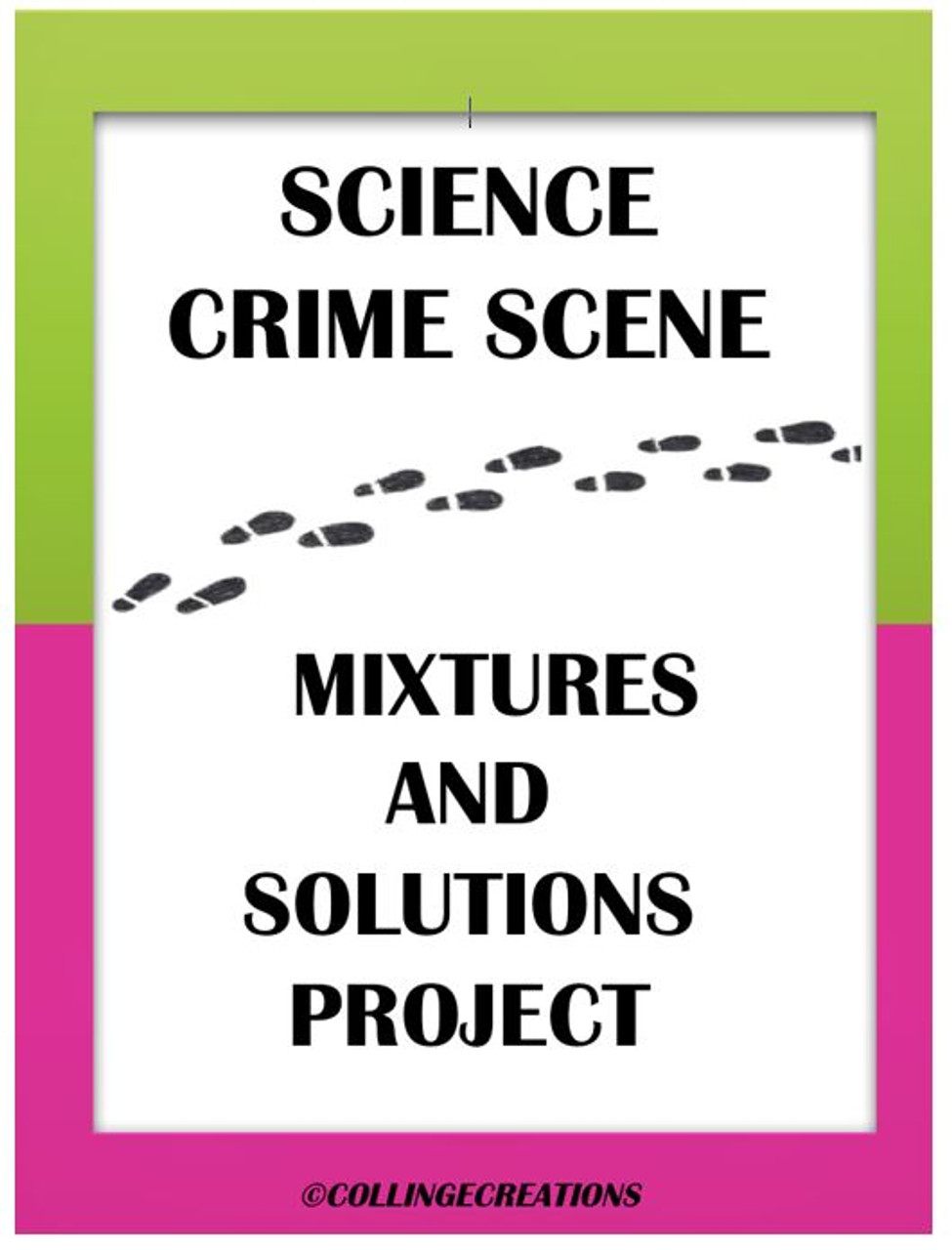 Mixtures and Solutions Crime Scene Project