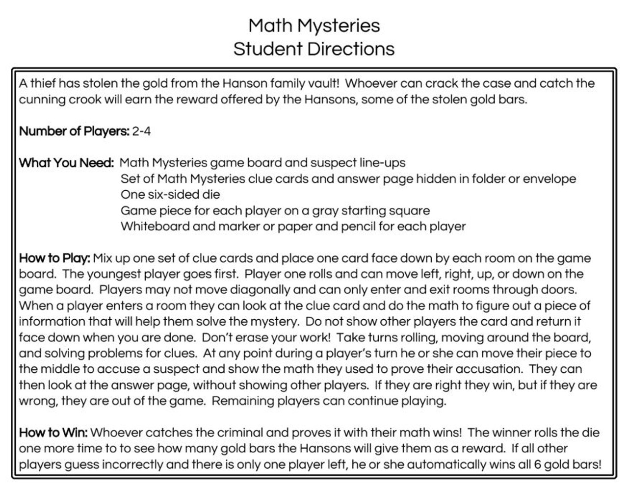 Math Mysteries: The Case of the Multiplication Maniac