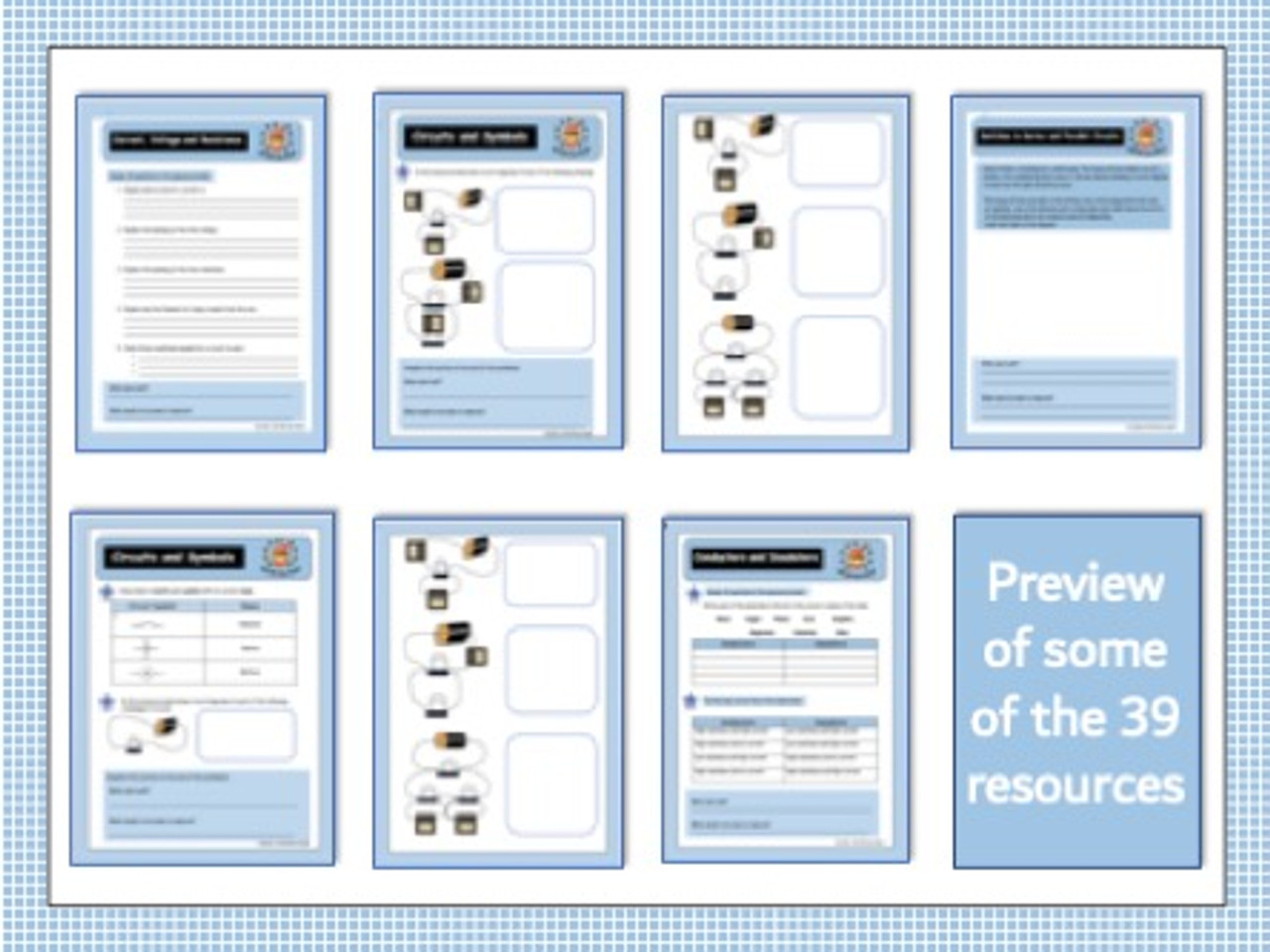 Current Electricity - 39 Worksheets with Mark Schemes