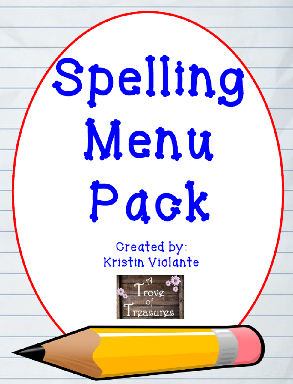 Spelling Menu Quarterly Pack