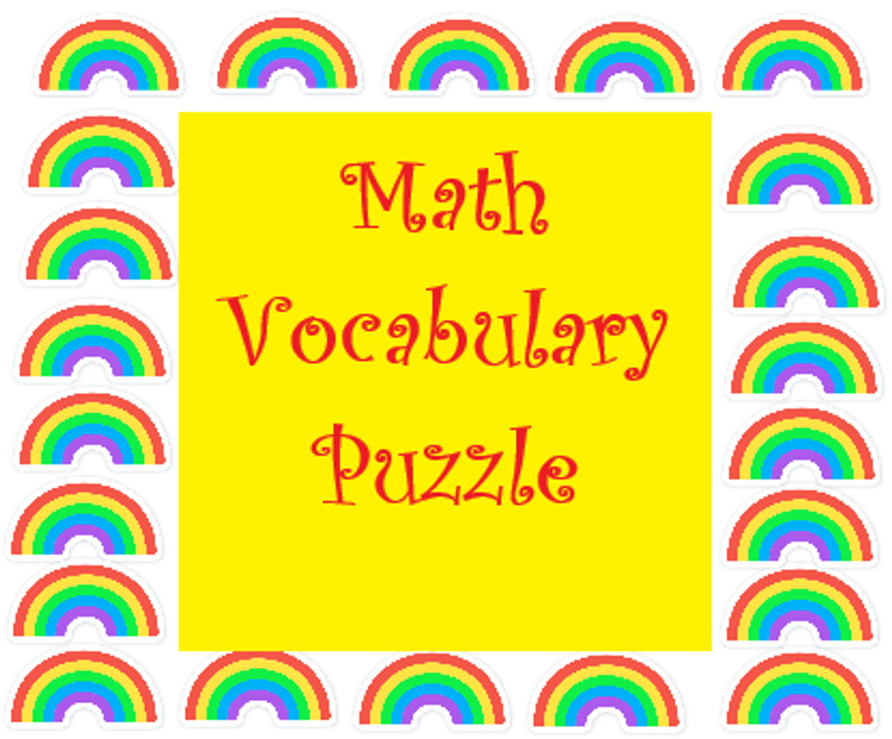 Math Vocabulary Crossword Puzzle