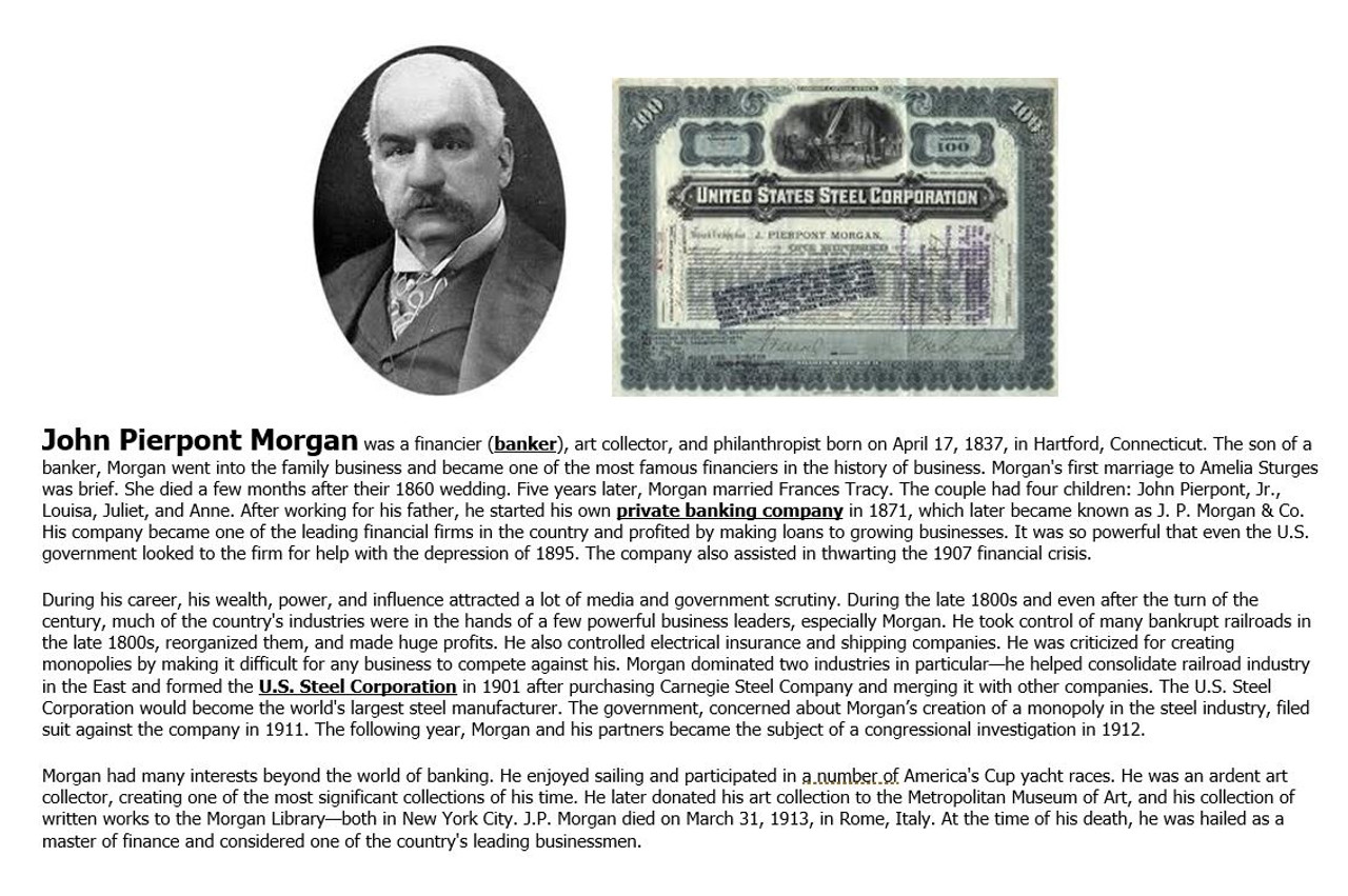 Big Business Tycoons: Robber Barons or Captains of Industry Jigsaw