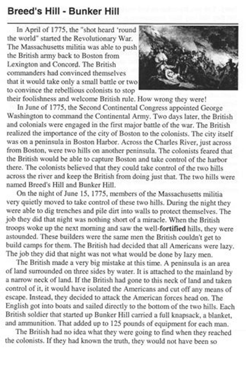 American Revolution Battlefield Lesson
