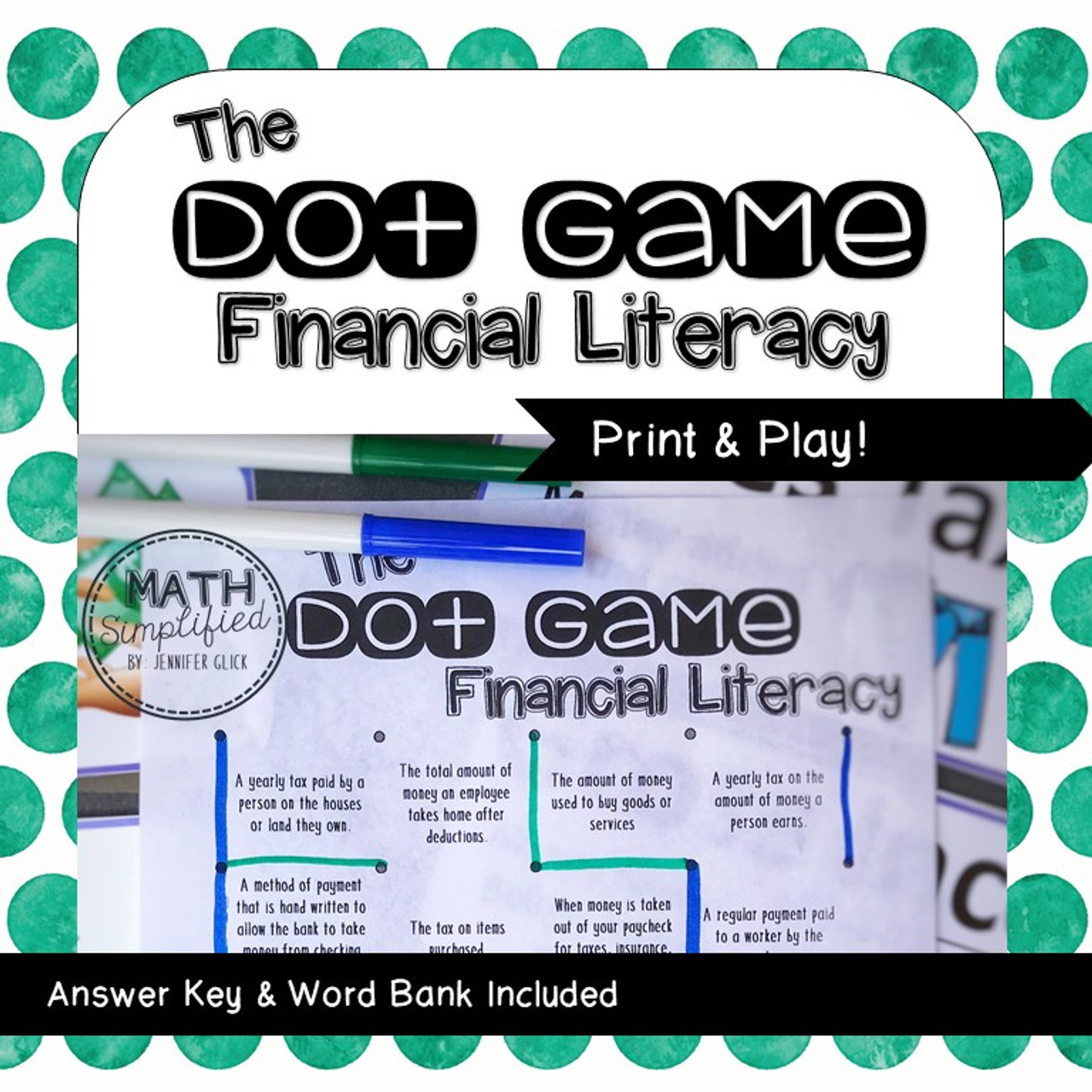 The Dot Game: Financial Literacy Review