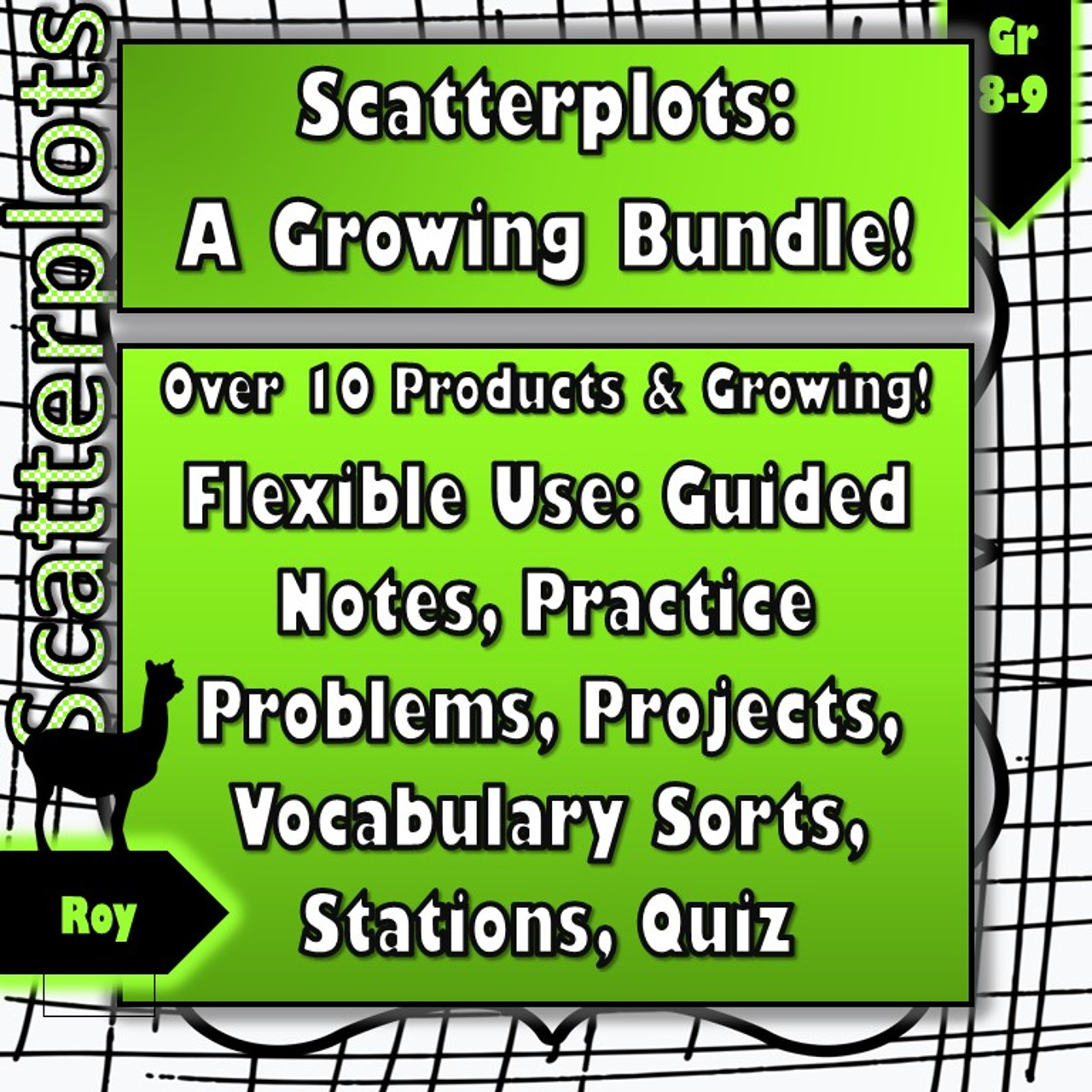 Scatterplots Bundle (Weeks of Products!)