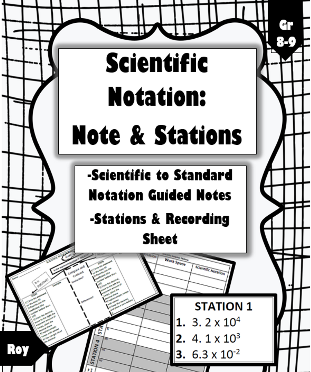 Scientific Notation Flowchart Cheat Sheet and Stations