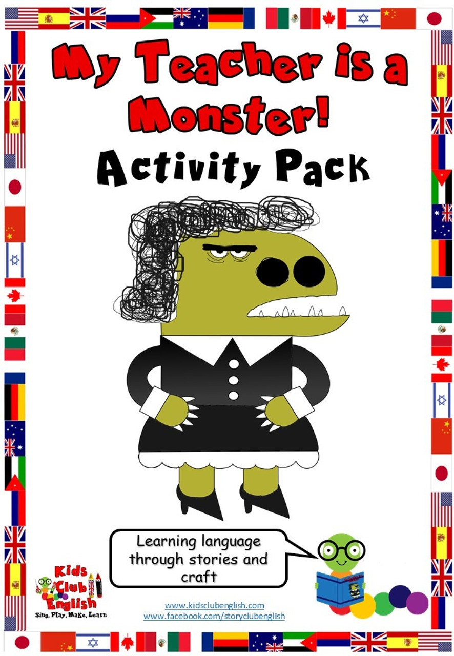 My Teacher is a Monster Activity Pack resource cover
