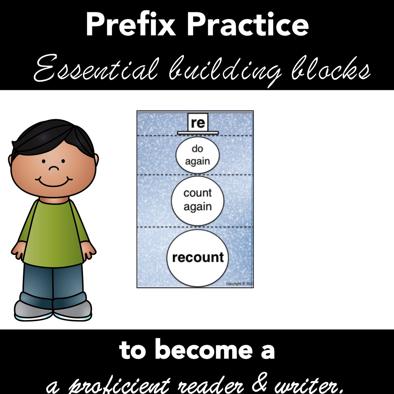 Prefix Activity - Winter Theme - Identify, Meaning, Spelling - Recording