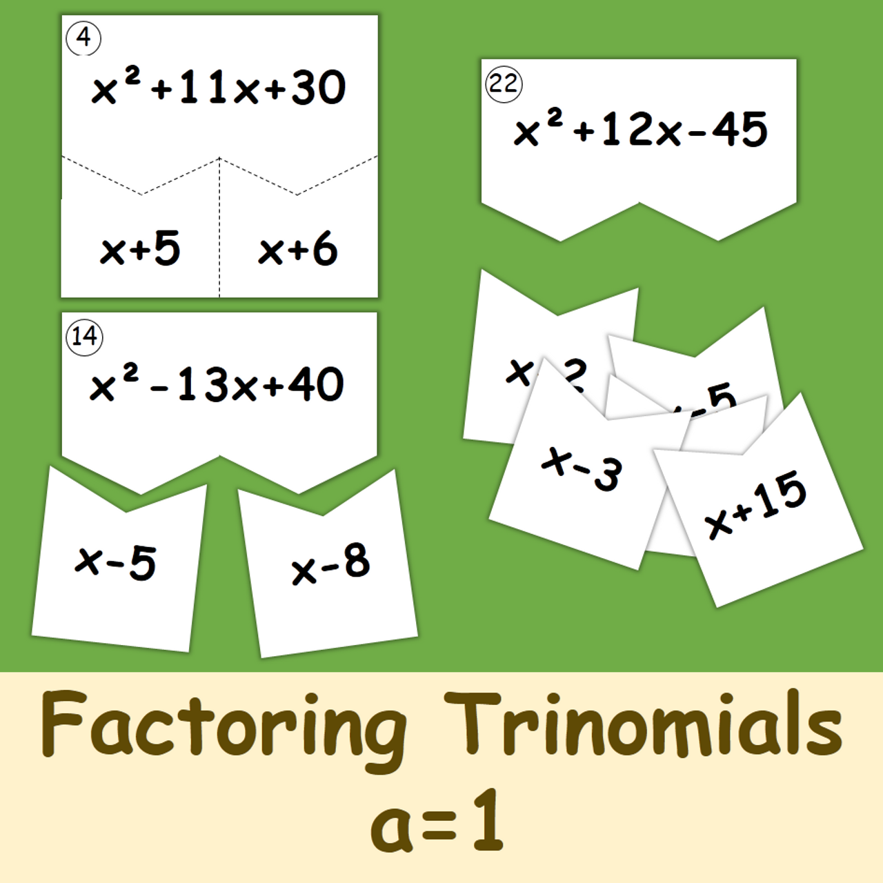 Factoring Trinomials A 1 Puzzles Amped Up Learning