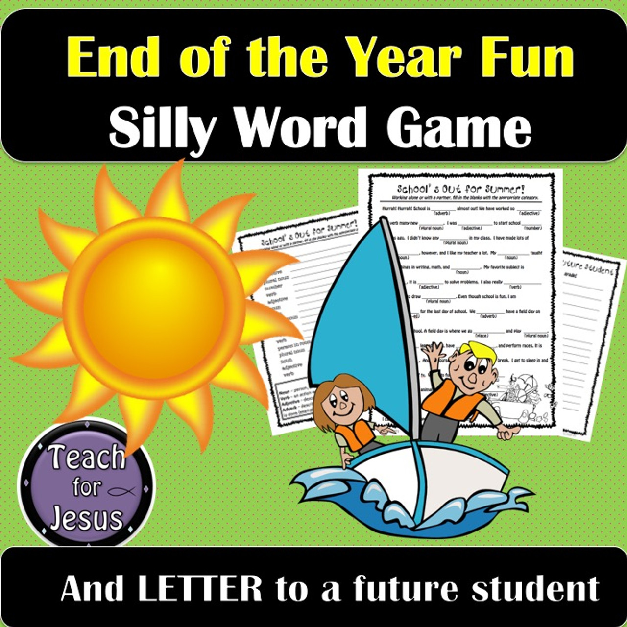 End of the Year | Parts of Speech Review Game