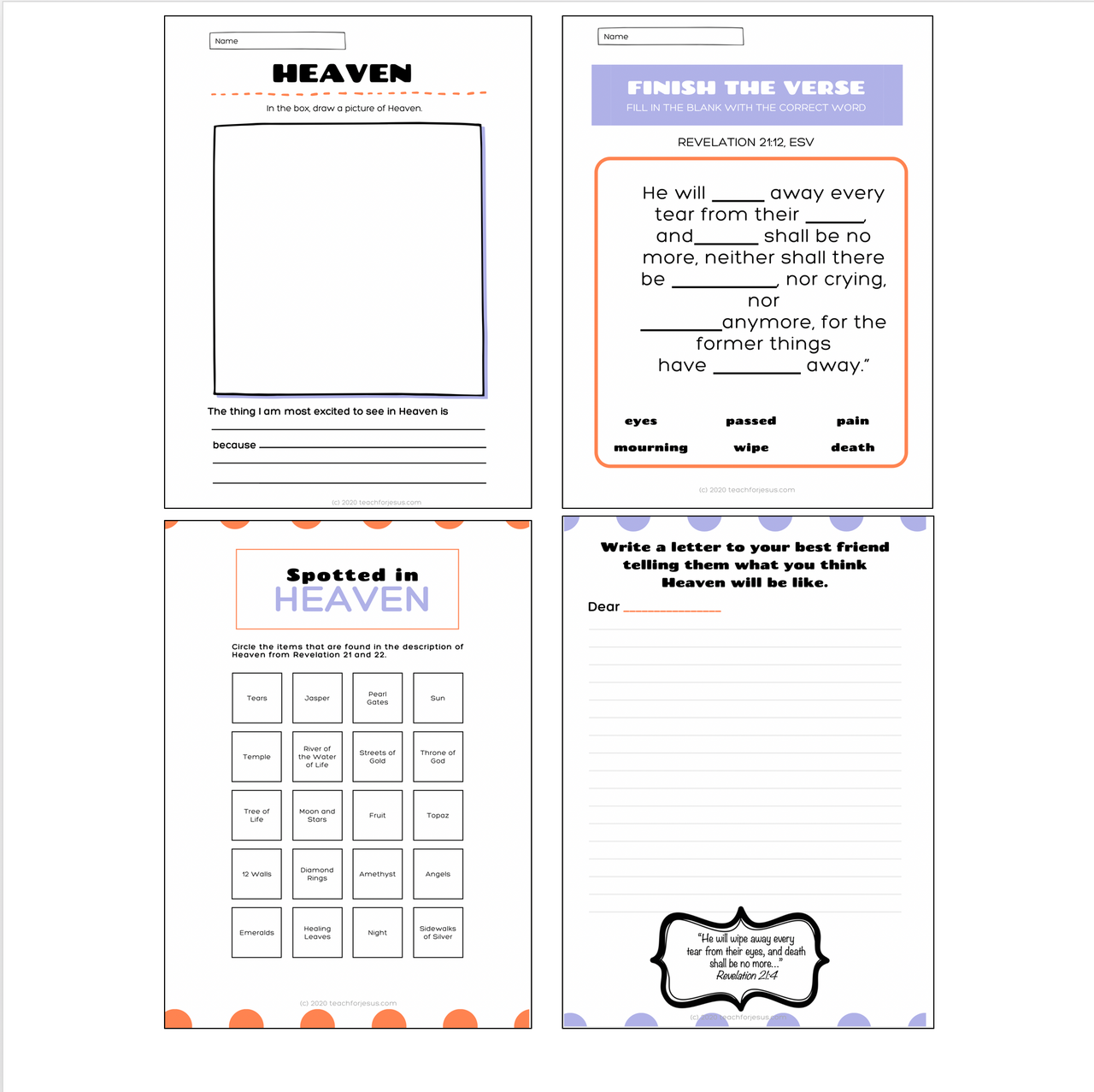 Sunday School Lesson For Kids | What is Heaven Like?