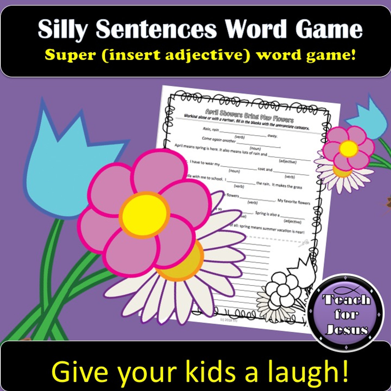 April Showers Silly Sentences Game