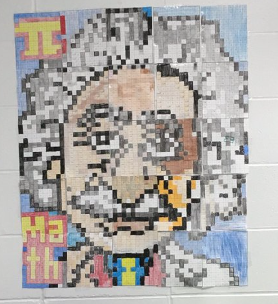An actual finished mosaic!  Thanks to @MrsPop for sending me this.