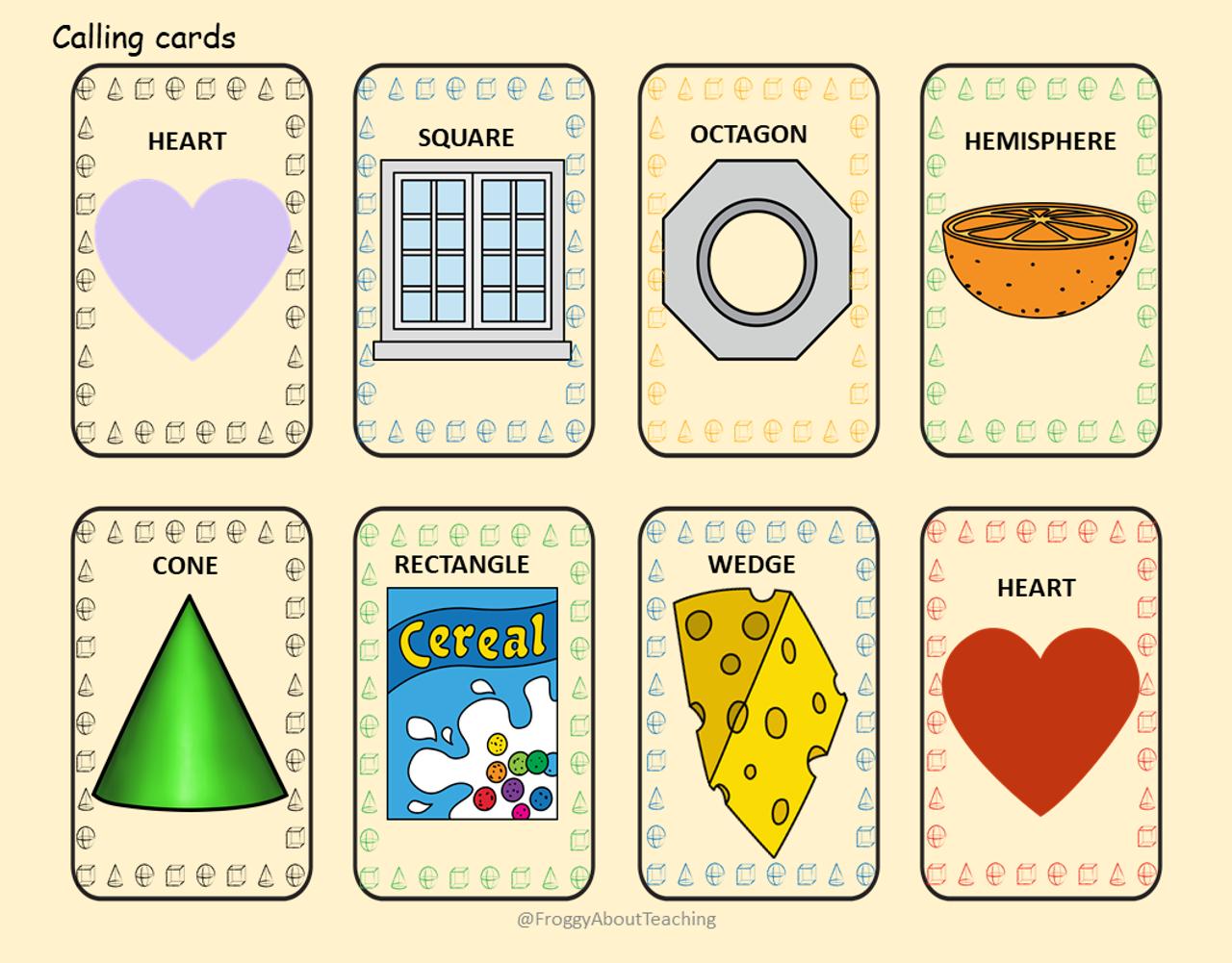 2d 3d Shape Bingo 2 Amped Up Learning