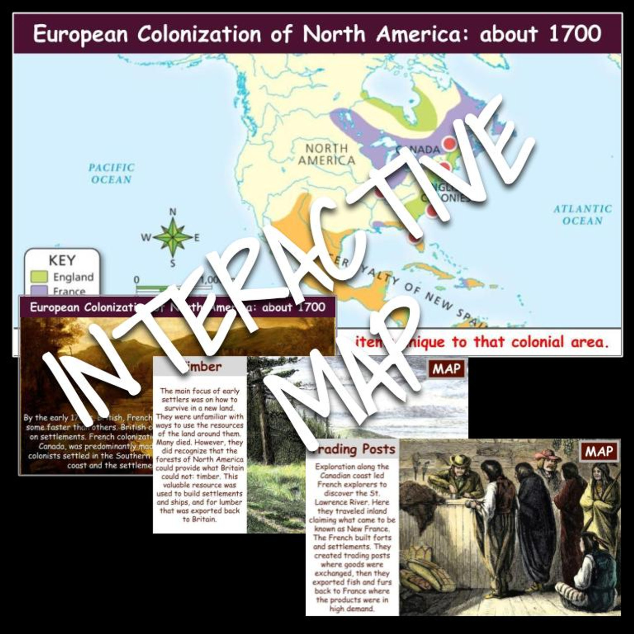 Interactive Map: Colonization in the Americas