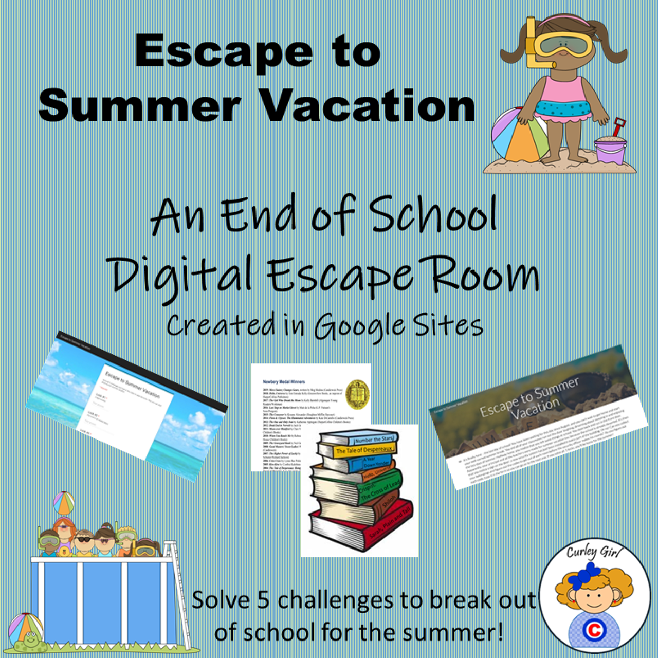 Escape to Summer Vacation End-of-the-Year Digital Escape Room