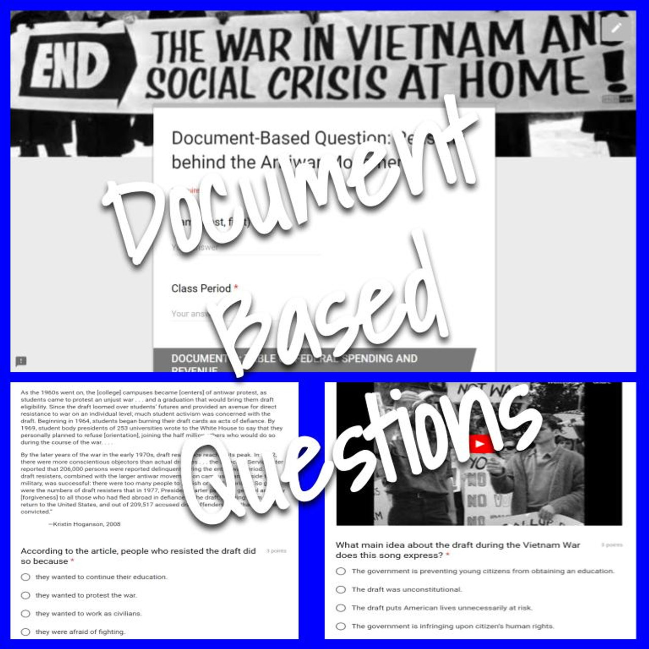 Document-Based Question: Reasons behind the Antiwar Movement