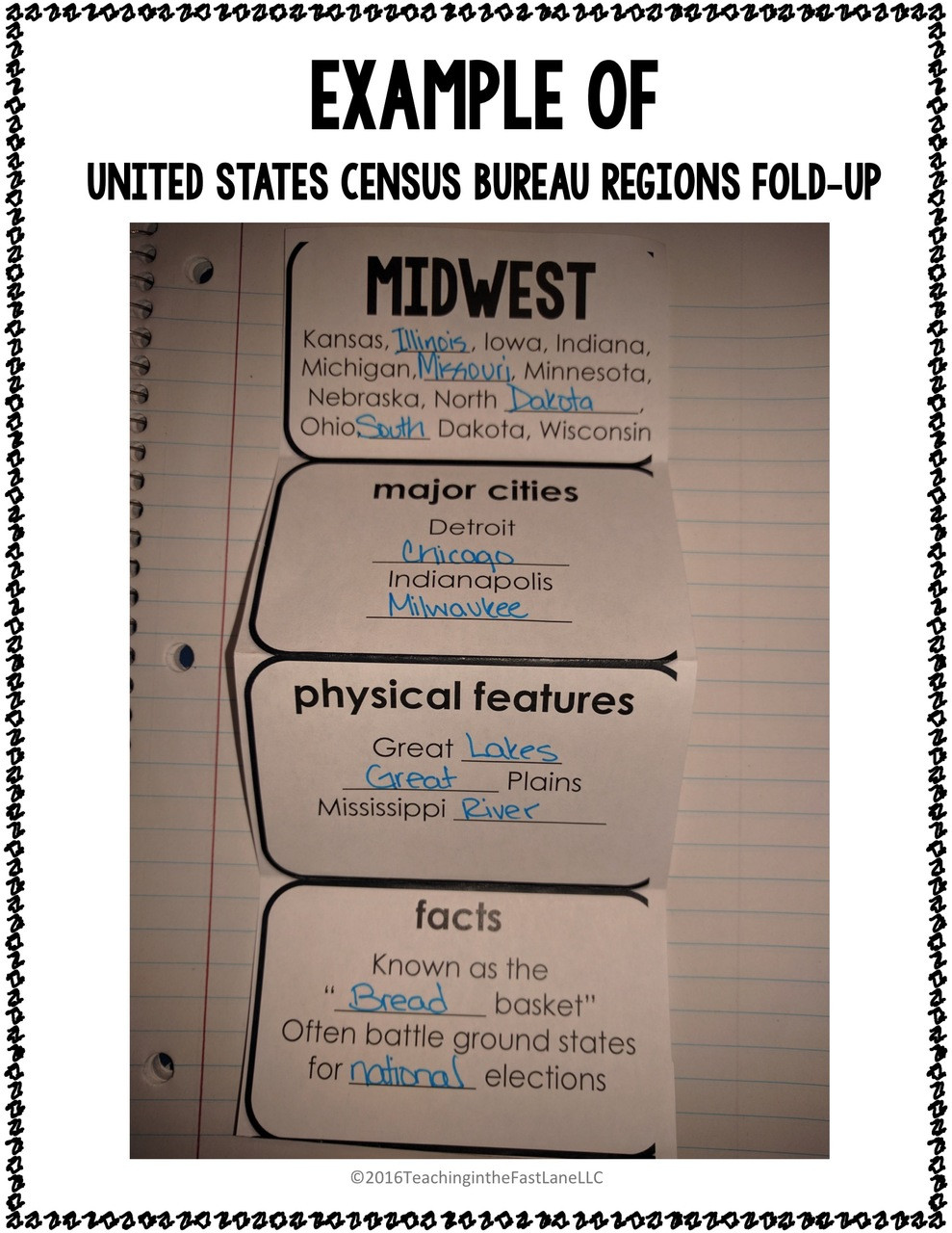 United States Geography Notebook Kit - FREE