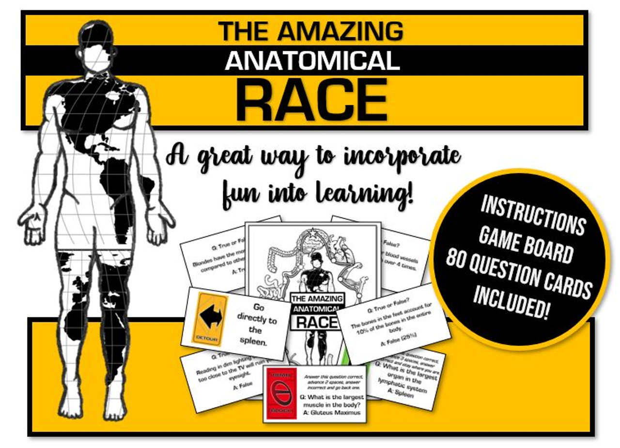 Amazing Anatomical Race Game! General human body facts fun!