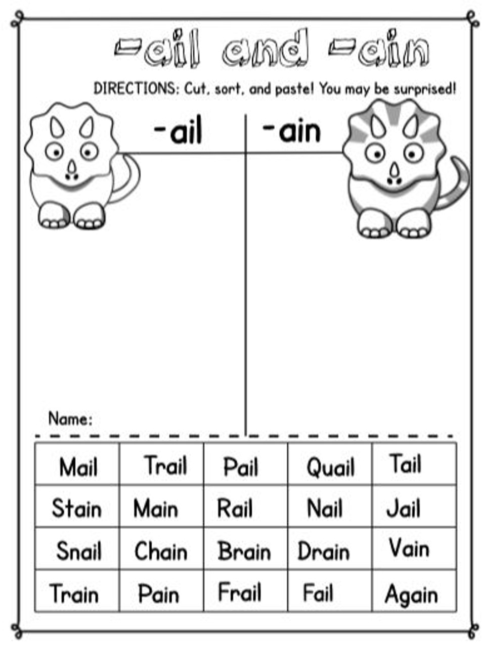 No-Prep Month-Long Word Work for Long A Spelling Patterns