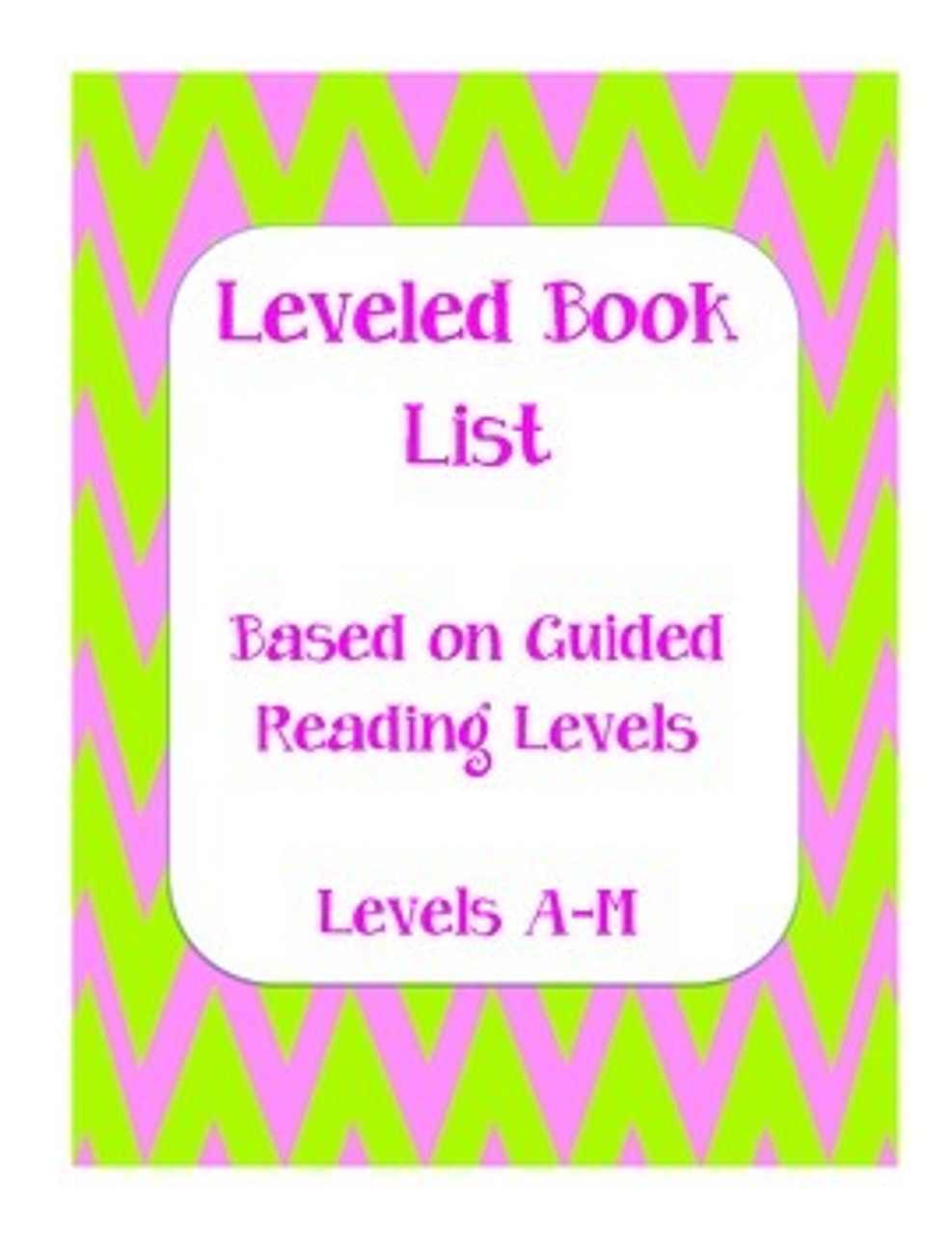 Guided Reading Leveled Book List (level A-M)