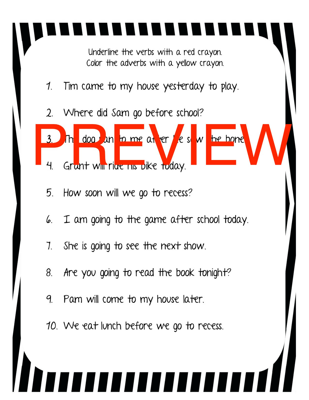Adverb vs Verb