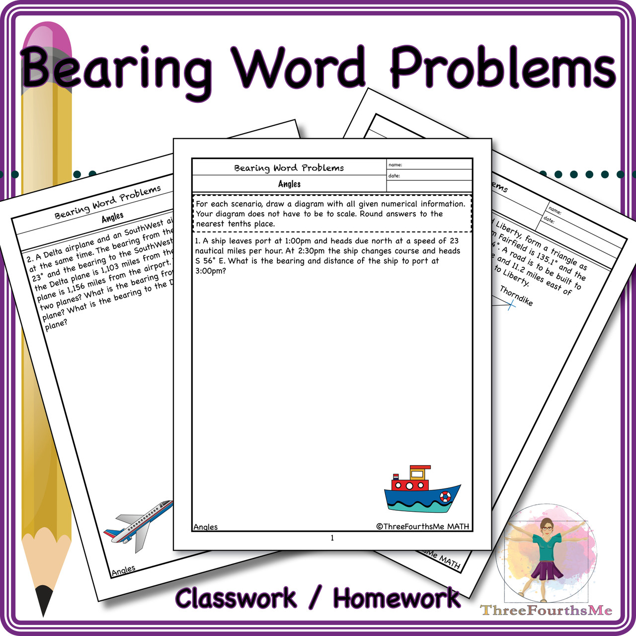 10 Bearing Word Problems