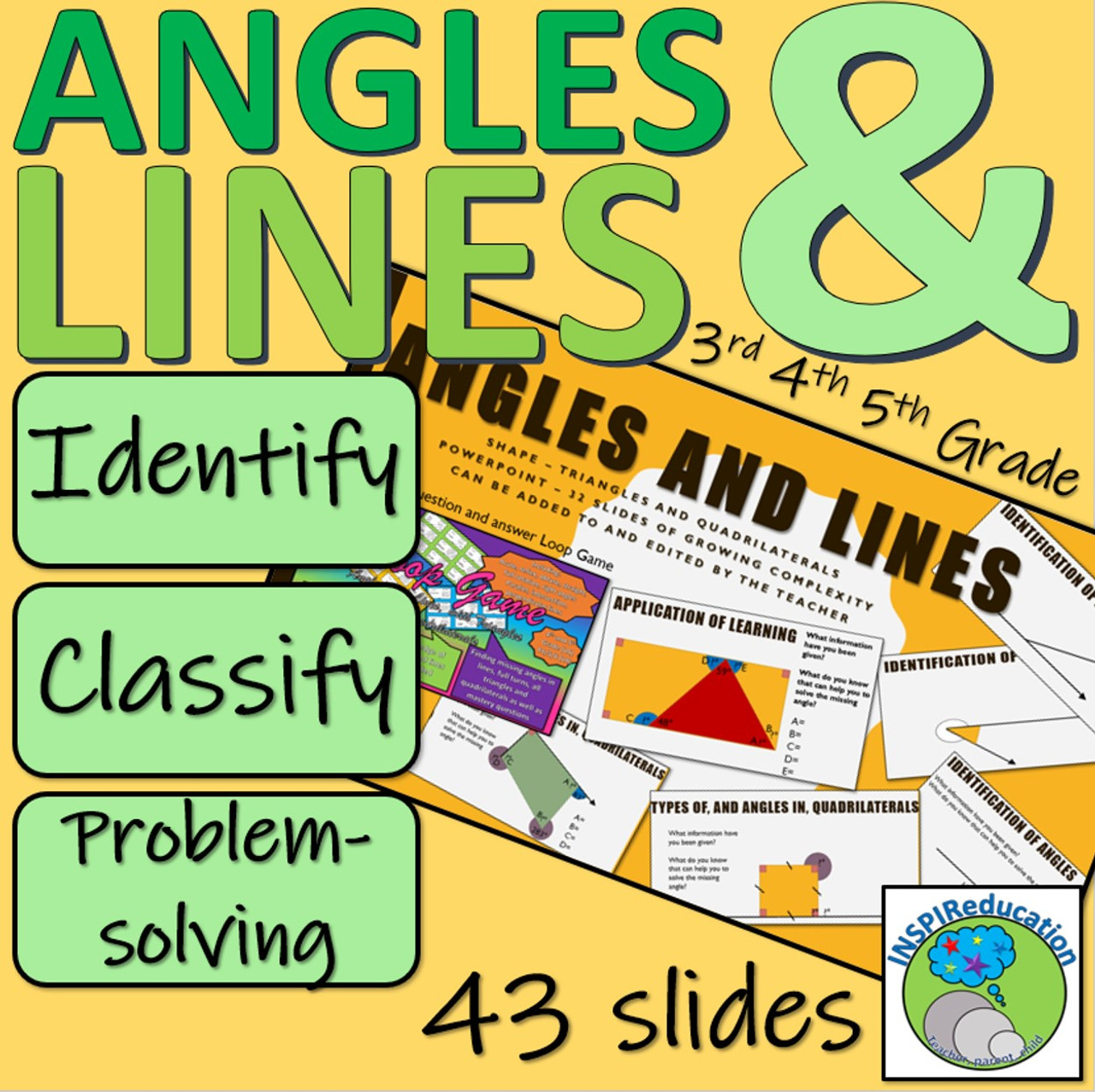 Angles and Lines - Classification and Problem Solving within context