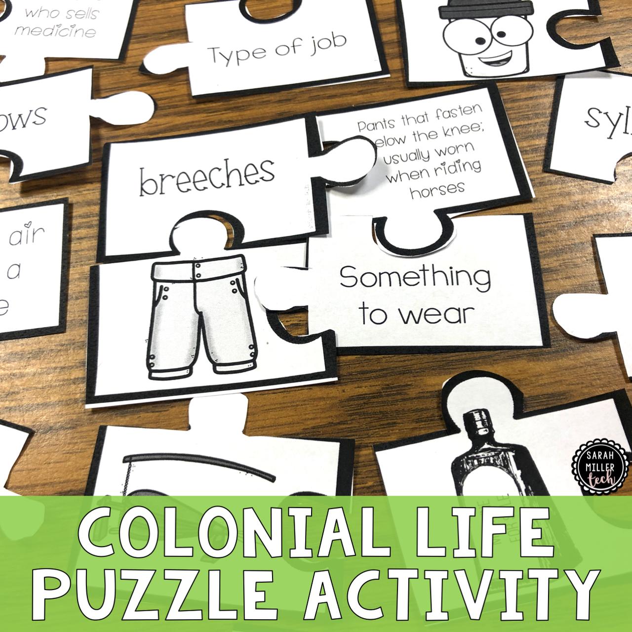 13 Colonies Puzzle Activity